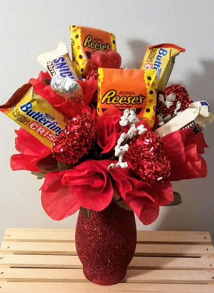 Red Candy Bouquet by AromaTerrandy on Zibbet