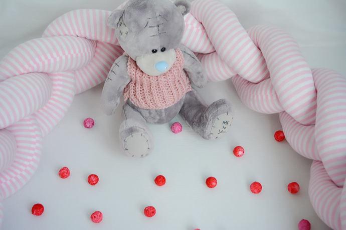 Braided Crib Bumper, Knot Cushion, Knot Pillow, Bolster Pillow, Decorative