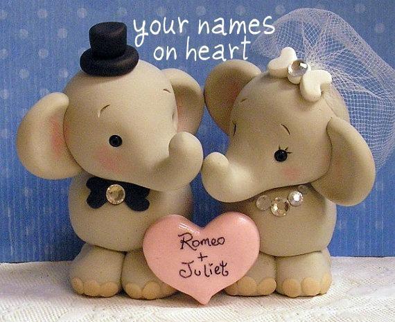 Copy of Sweet Elephant Wedding Cake Topper