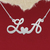925 Silver Name Necklace LloveA/Custom Name Jewelry/Personalized ANY NAME Plate