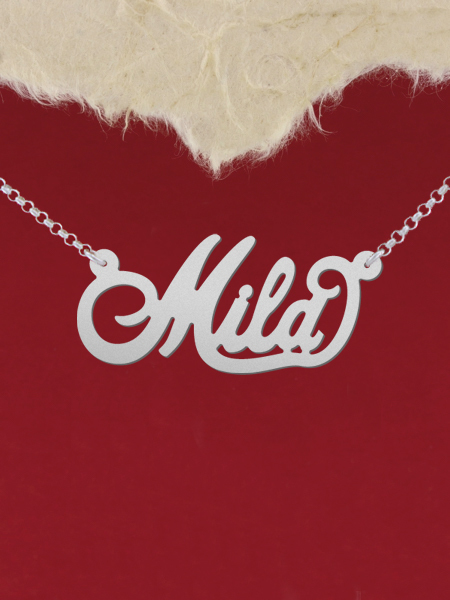 925 Silver Name Necklace Mila/Custom Name Jewelry/Personalized ANY NAME Plate
