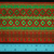 10 cm x 1 m • Orange/Green/Gold Traditional Hmong Diamond Square Pattern Trim