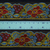 4cm x 1 m • Blue/Yellow/Red Flower Pattern Trim Ribbon
