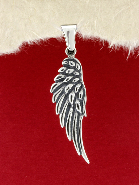 Silver Wing Pendant Necklace/925 Sterling Silver Pendant Necklace/Pendant