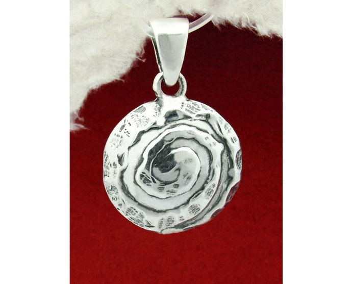 Silver Circle Pendant Necklace/925 Sterling Silver Pendant Necklace/Pendant