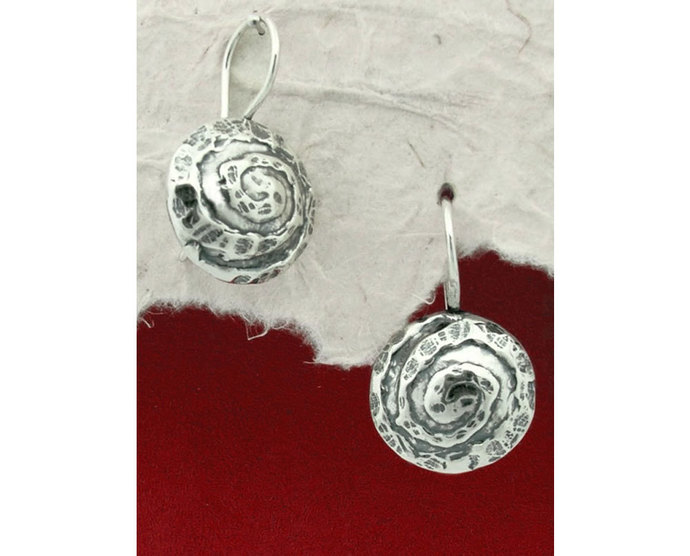 925 Sterling Silver Circle Earrings/Handmade Earrings/925 Silver