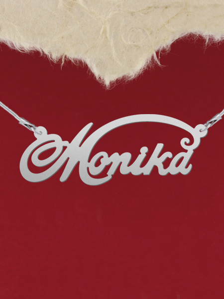 925 Silver Name Necklace Monika/Custom Name Jewelry/Personalized ANY NAME Plate