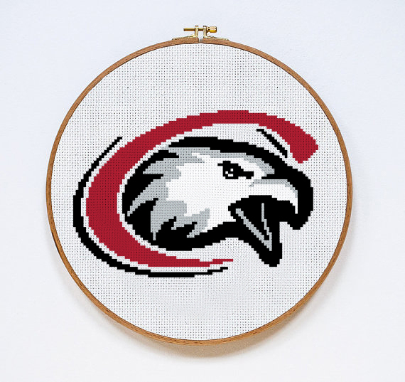 Chadron State College Eagles | Digital Download | Sports Cross Stitch Pattern |