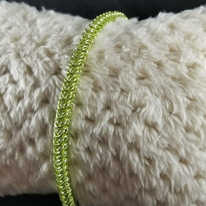 **LIMITED EDITION** Lime Green Box Weave Bracelet