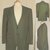 Vintage 50s Shark Skin Speckled Green Louis Roth Baron's Suit Jacket Chest 42