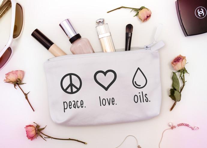 Custom Essential Oil Bag, Peace Love Oils, 4 SIZES