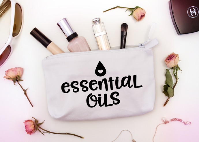 Custom Essential oil bags, canvas toiletry bags, personalized, 3 sizes
