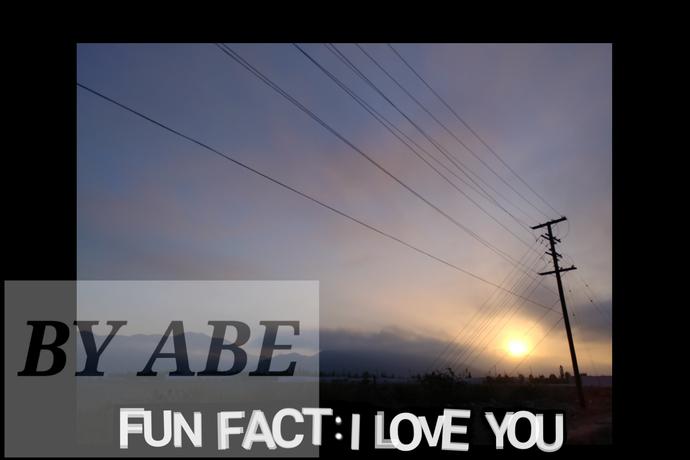 Fun fact: I love you digital download printable