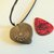 Ammonite Heart Pendant, Rustic Jewelry, Fossil Jewelry, Handcrafted Jewelry,