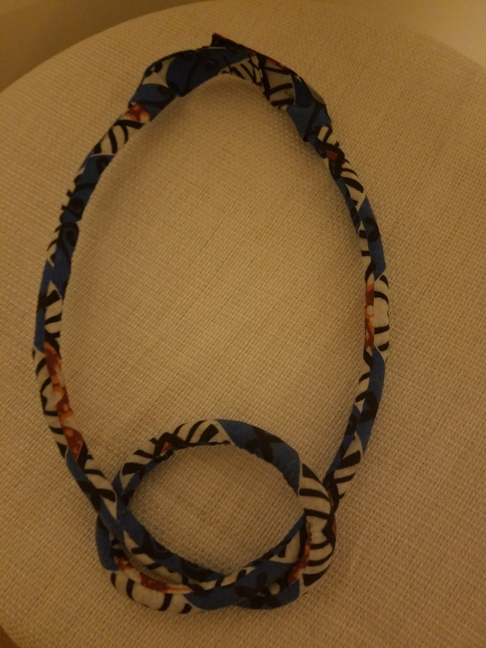 African Wax Print Necklace
