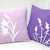 Pick Your Color. Wild Grass Summer Lilies Grey And Yellow Decorative Pillow