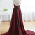 Custom Made A Line Maroon Sweep Train Prom Dresses, Formal Dresses, Evening