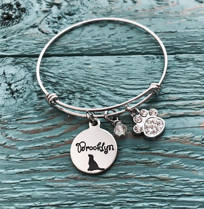 Labrador Retriever, Labrador, LAB, lab pendant, Puppy, Lab Mom, SIlver Bracelet,