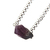Amethyst Sterling Necklace One Natural Stone February Birthstone Jewelry