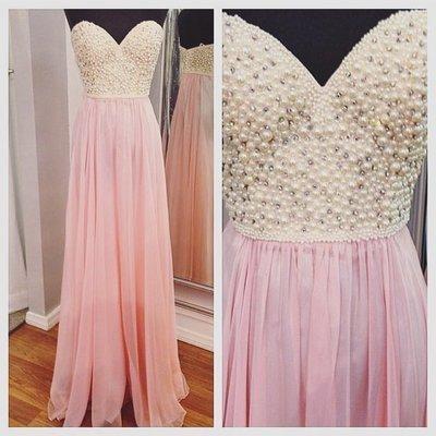 0bb06e0987b65 Beading Prom Dress, Charming Prom Dress,Pink Chiffon Prom Dress,Sweetheart  Prom