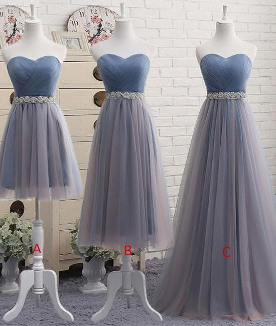 Cute Sweetheart Neck Tulle Prom Dress, Cheap Prom Dresses, Long Prom Dresses,