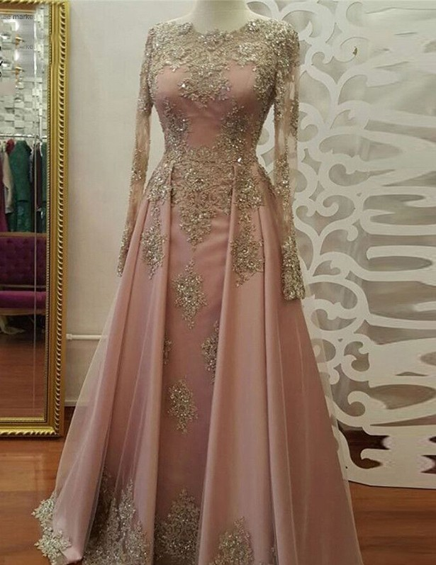 2017 Long Sleeve Evening Dress, Long Prom Dresses by lass on Zibbet