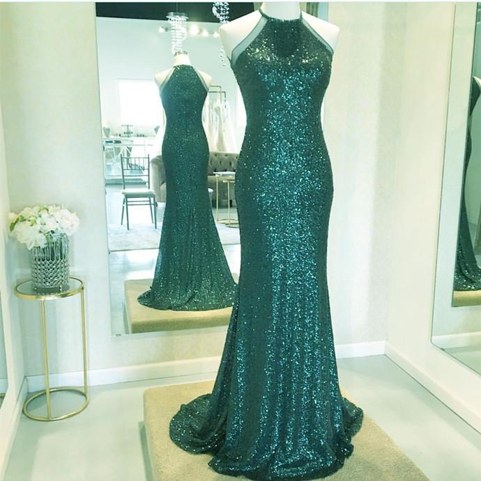 Charming O-Neck A-Line Prom Dresses,Long Prom Dresses,Cheap Prom Dresses,