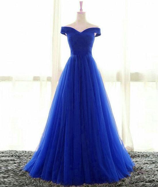 2018 Off The Shoulder Floor Length Tulle Prom Dress By Lass On Zibbet