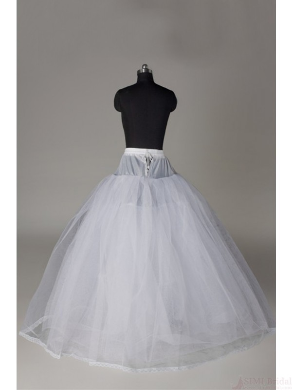 A-line 5 Tiers Net Floor-length Slip Style Wedding Petticoat P01