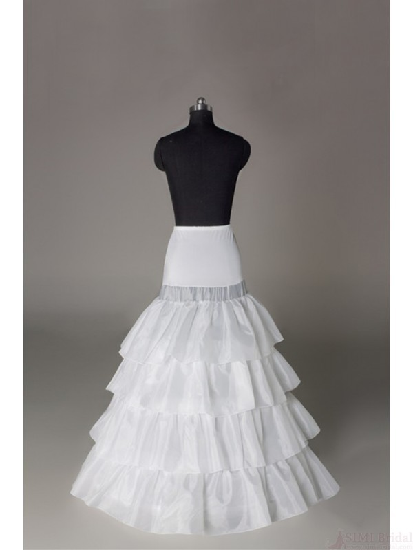 Nylon A-Line 4 Tier Floor Length Slip Style/Wedding Petticoats P02