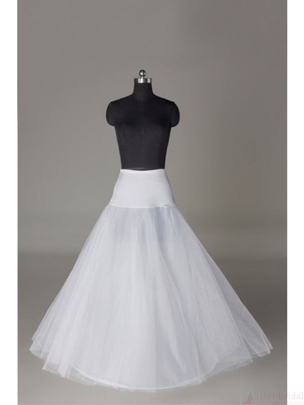 Nylon A-line Floor-length Slip Style Bridal Petticoat P03