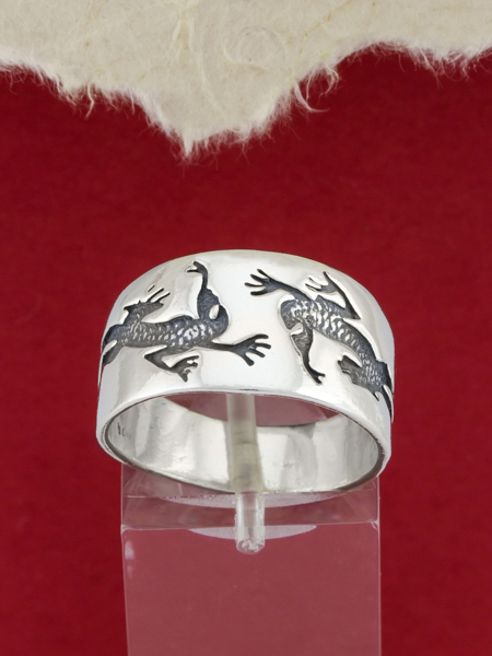 925 Sterling Silver Lizard Ring/Handcrafted  Silver Ring/Sterling Silver