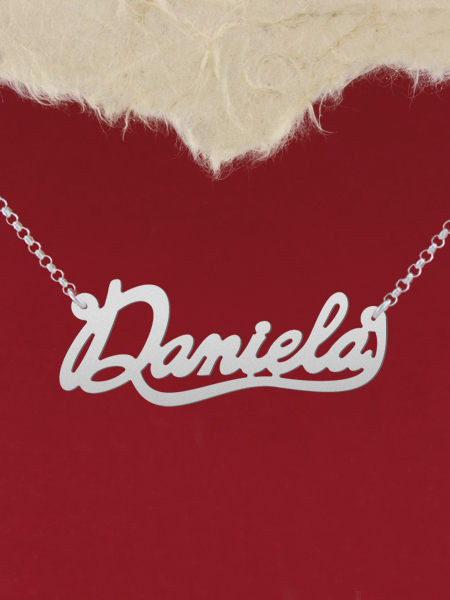 925 Silver Name Necklace Daniela/Custom Name Jewelry/Personalized ANY NAME Plate