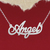 925 Silver Name Necklace Angel/Custom Name Jewelry/Personalized ANY NAME Plate