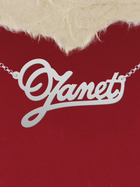 925 Silver Name Necklace Janet/Custom Name Jewelry/Personalized ANY NAME Plate