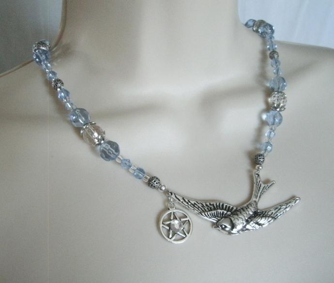 Bird Goddess Pentacle Necklace
