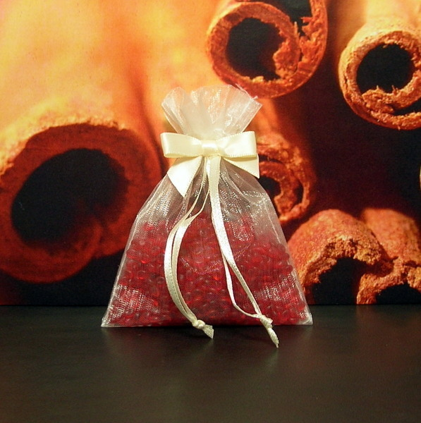 Cinnamon Stick Aroma Bead Sachets (Set of 2)  GREAT In THE CAR Air Fresheners