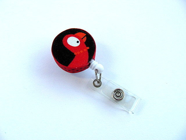 Red Parrot Badge Holder Free US Shipping