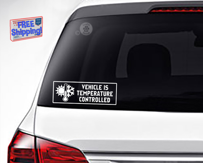 Vehicle Is Temperature Controlled Decal with Graphic, 2 sizes available, in