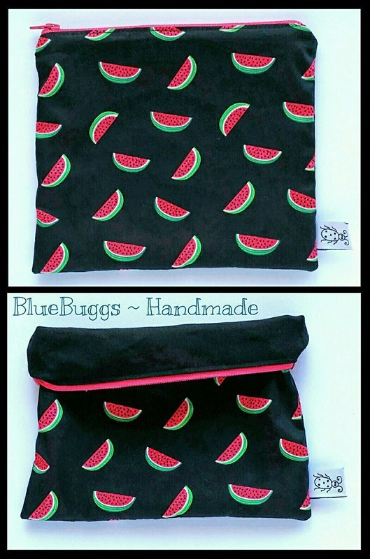 Pencil Case - Watermelons - Black