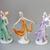 Vintage, German  porcelain lady figurine,dancing girl,ballerina,hand