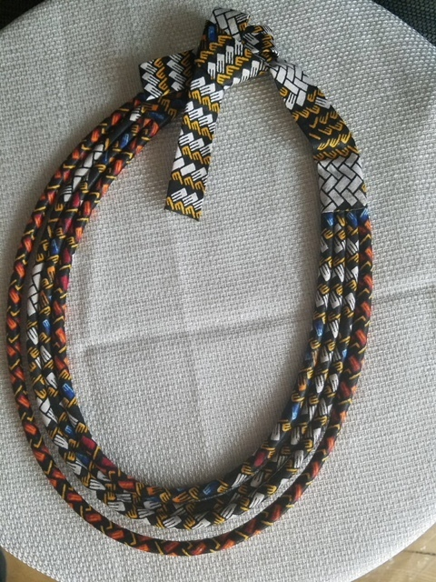 African Wax Print Multi-Layered Rope Necklace