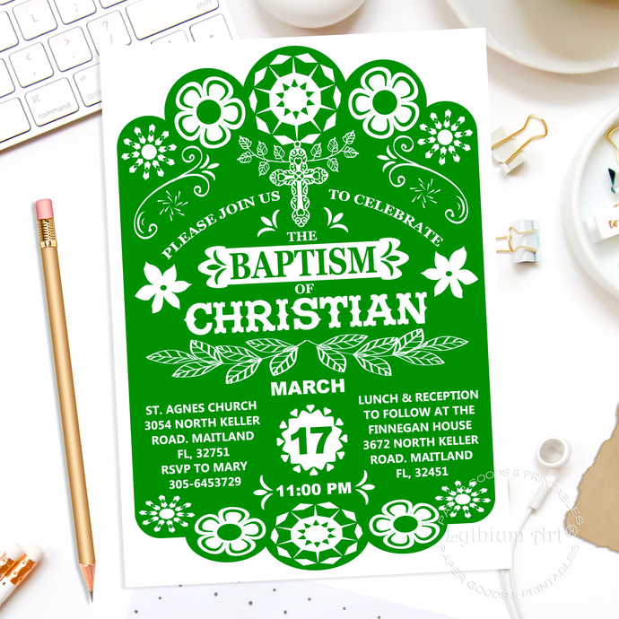 photo relating to Papel Picado Printable named PAPEL PICADO Invitation, Papel Picado Baptism Invitation,Baptism Invitation,Christening Invitation,Printable Baptism Invitation,Papel Picado