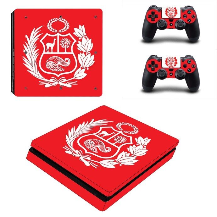 Coat of arms of Peru ps4 slim skin decal for console and controllers