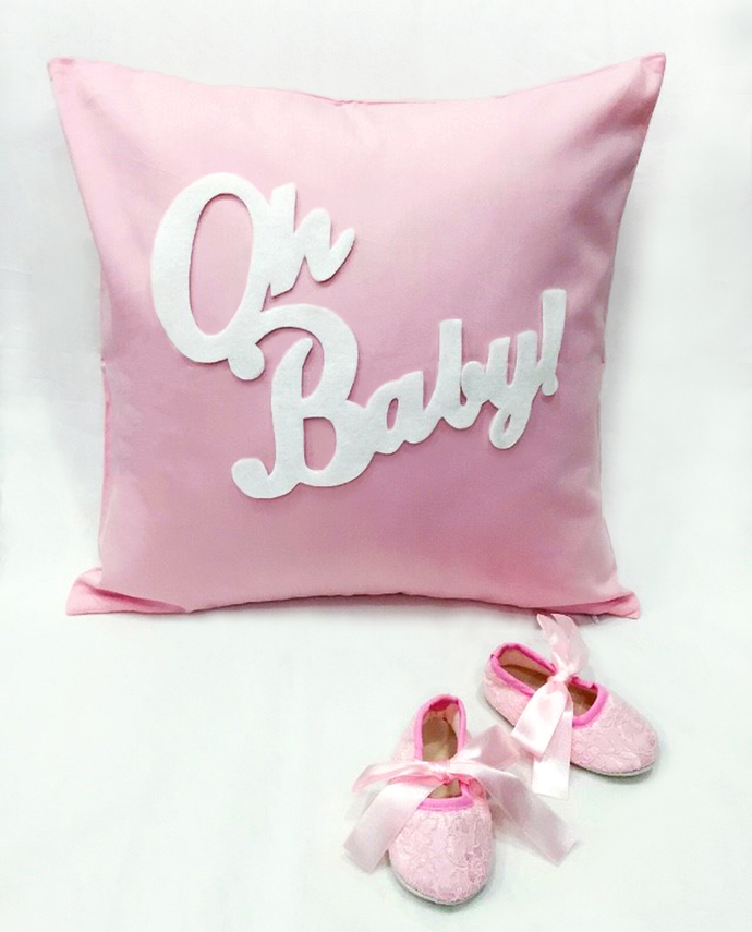 Pink Baby Girl Gift Set Oh Baby Pink By SmilingCloud On Zibbet New Baby Girl Decorative Pillows