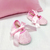 Pink Baby Girl Gift Set. Oh Baby Pink Decorative Pillow Cover Pink Lace Booties