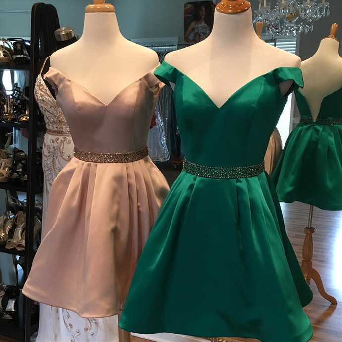 Modest Homecoming Dresses, Pink Homecoming Dresses, Beading Homecoming Dresses,