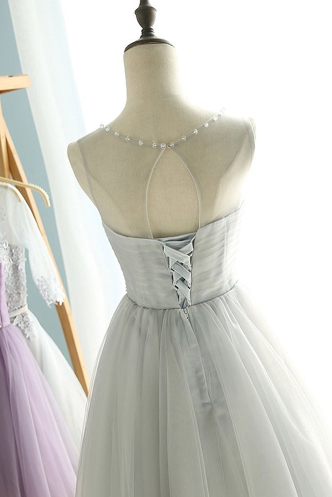 Cheap Short Homecoming Dress, Tulle Homecoming Dress, Short Prom Dress, Cap