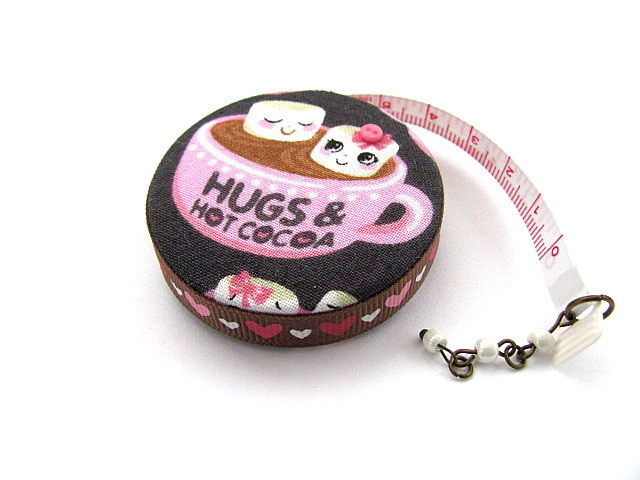 Tape Measure Hot Cocoa and Marshmallows Retractable Measuring Tape