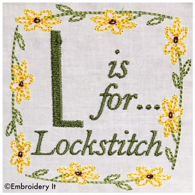 Embroidery Words Alphabet Letter L - Machine Embroidery Design in Pes, Dst, Exp,